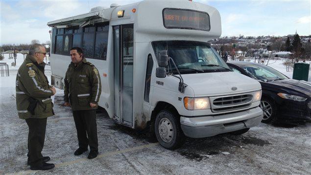 Le poste de commandement mobile de la Sûreté du Québec