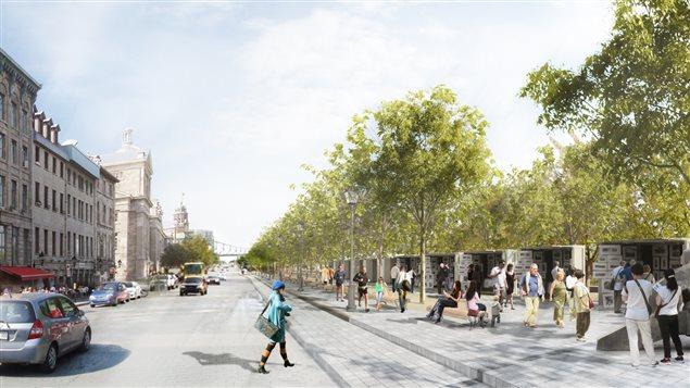 Maquette du projet d'aménagement de la rue de la Commune.