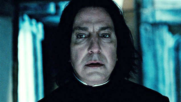 L'acteur Alan Rickman dans le rôle de Severus Rogue dans la série de films «Harry Potter»