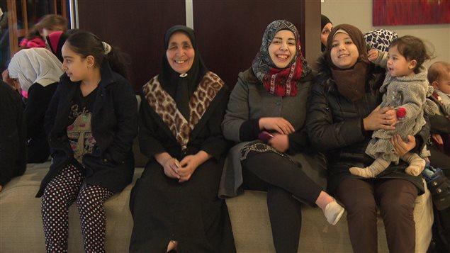 Une famille de réfugiées syriennes à Ottawa