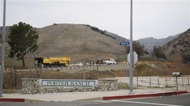 L'entrée du champ d'entreposage de gaz de la Southern California Gas.