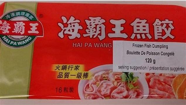 Les boulettes de poisson congelées Hai Pa Wang font l'objet d'un rappel en raison de la présence non indiquée sur l'étiquette d'oeufs et de blé.