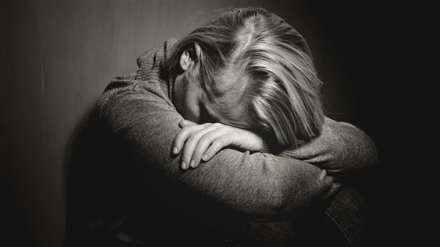 Une femme en dépression