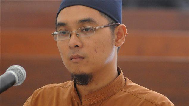 L'instigateur de l'attaque de jeudi a Jakarta, Bahrun Naim, lors sa comparution.