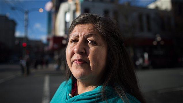 Fay Blaney, présidente de la marche annuelle de Vancouver en mémoire des femmes autochtones assassinées ou disparues.