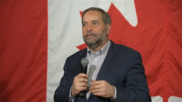 Le chef du NPD Thomas Mulcair.