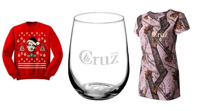 Des articles à vendre pour promouvoir la candidature de Ted Cruz à la présidence des États-Unis
