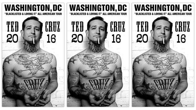 L'artiste Sabo a dessiné une affiche pour Ted Cruz.