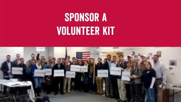 Sur son site web, Marco Rubio propose à ses partisans de commanditer une équipe de bénévoles.