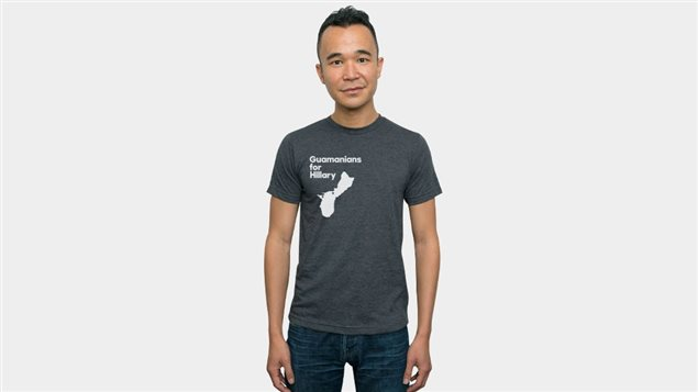 Un t-shirt pour les partisans d'Hillary Clinton à Guam