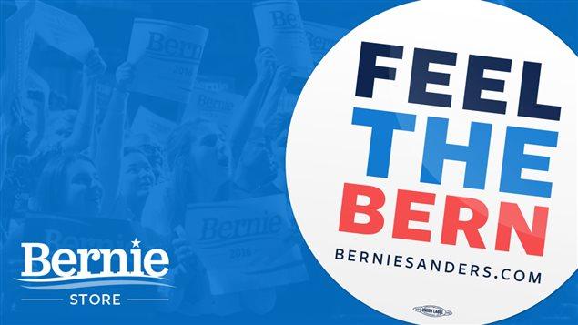 Certains articles vendus sur le site officiel de Bernie Sanders réfèrent à «Bern», son surnom.