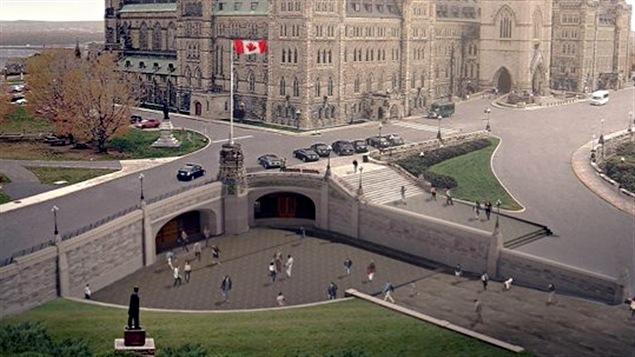 Les visiteurs du parlement auront droit à une nouvelle entrée, prochainement.