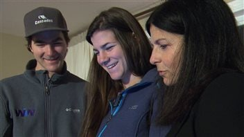 Marc-Antoine, Alex-Anne et maman Gagnon
