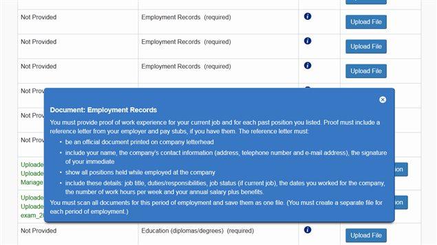 Document en ligne de Citoyenneté et Immigration Canada en anglais seulement.