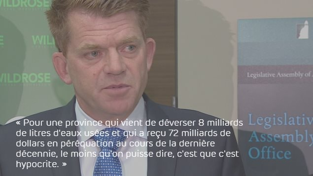 Le chef du Wildrose, Brian Jean
