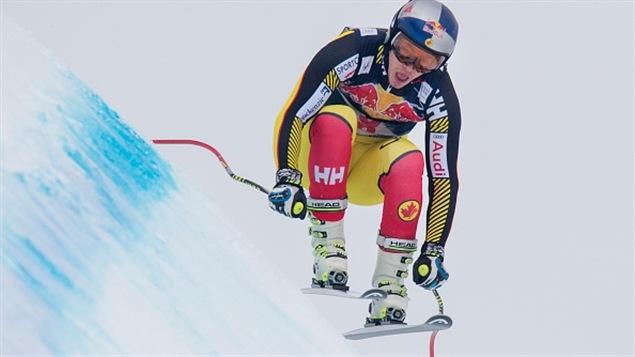 Le Canadien Erik Guay en deuxième descente d'entraînement à Kitzbühel