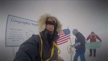 Roger d'Eschambault au pôle Sud.