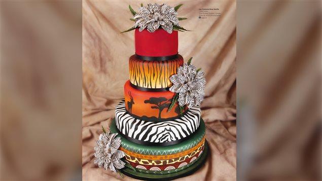 Ce gâteau des Créations Rose-Vanille a été photographié dans le magazine Cakecentral