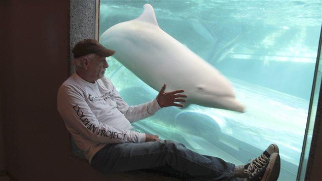 Rick O'Barry, vedette du documentaire The Cove, qui dénonce la chasse aux dauphins faite au Japon.