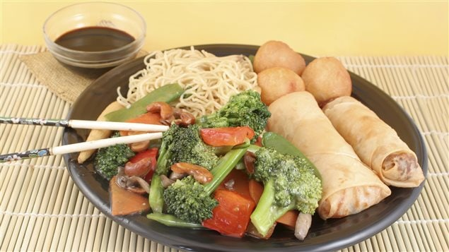 Un mets typique des restaurants chinois d'Amérique du Nord.