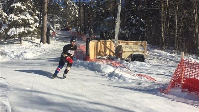 Patineur, Ice Challenge de Ville-Marie, au Témiscamingue