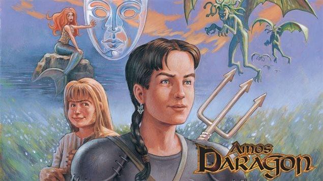 La couverture du premier tome des aventures d'Amos Daragon (détail)