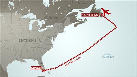 L'avion en direction de Milan a du faire un attérissage forcé à Saint-Jean T.-N.-L à la suite de fortes turbulences.