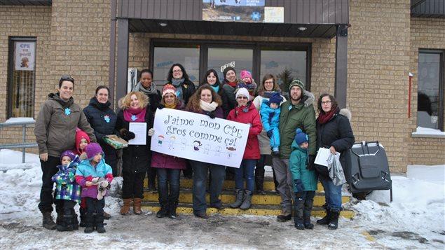 Le CPE Le P'tit Gadu de Sherbrooke souhaite 1000 noms sur une pétition lancée pour contrer les coupes dans le réseau.