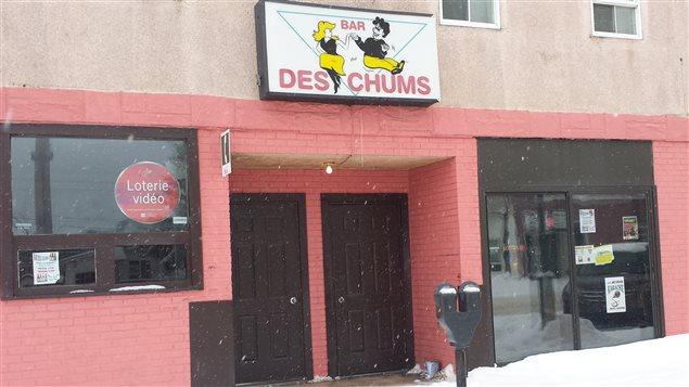 La bar des Chums situé dans le quartier du Vieux-Noranda