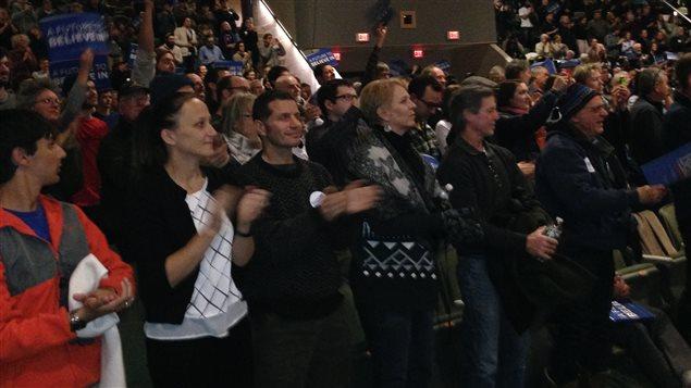 Partisans de Bernie Sanders à Wolfboro