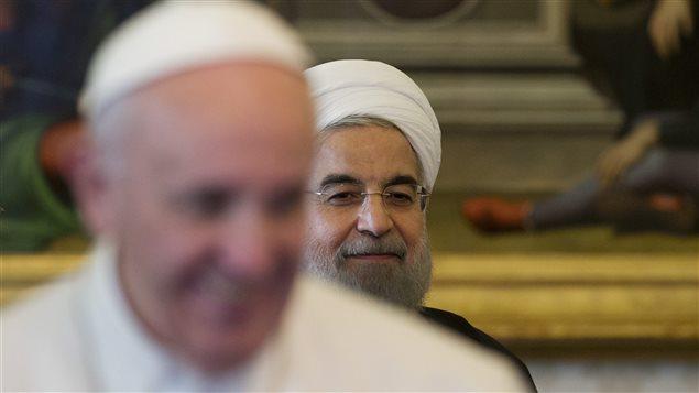 Le pape François et le président iranien Hassan Rohani
