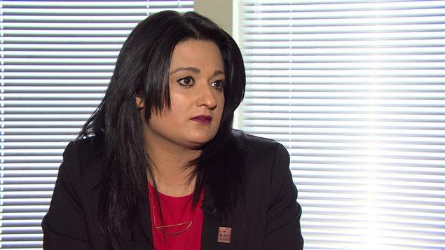 La chef du parti libéral du Manitoba, Rana Bokhari