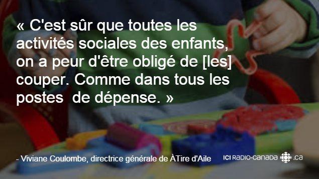 «C'est sûr que toutes les activités sociales des enfants, on a peur d'être obligé de [les] couper. Comme dans tous les postes  de dépense.»