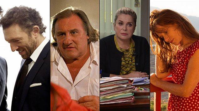 Vincent Cassel, Gérard Depardieu, Catherine Deneuve et Isabelle Huppert