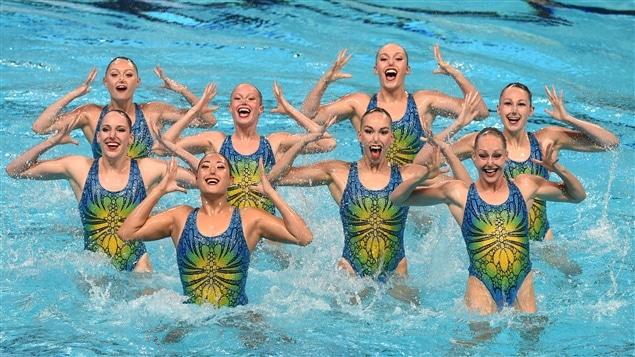 L'équipe canadienne de natation synchronisée aux Championnats du monde FINA 2015