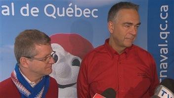 Alain April et Mario Bédard qualifient la vente de billets du spectacle d'ouverture de «succès».