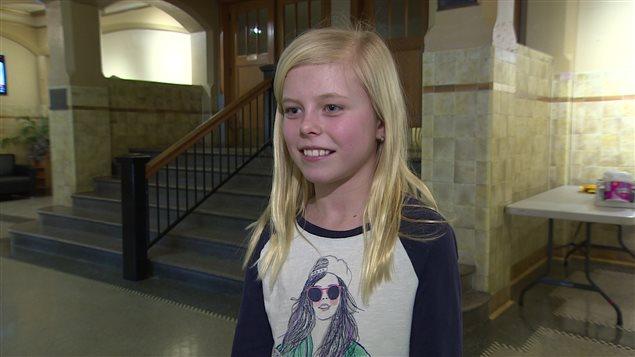 Emily Beggs, en 5e année, est contente d'avoir appris comment résoudre de petits conflits