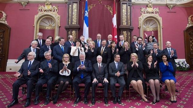 Le nouveau cabinet ministériel libéral lors du remaniement du 28 janvier 2016
