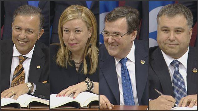 La grande région de Québec compte quatre ministres : Sam Hamad, Dominique Vien, François Blais et Sébastien Proulx