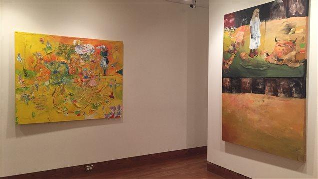 Une soixantaine d'oeuvres de Louisette Gauthier-Mitchell sont présentées au Musée des beaux-arts de Sherbrooke jusqu'au 28 mars.