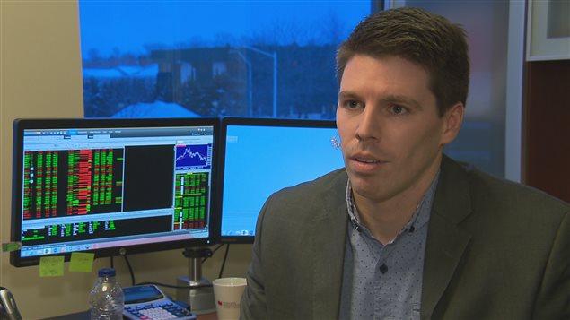 Sébastien Leblanc, financier à la Banque National de Rimouski