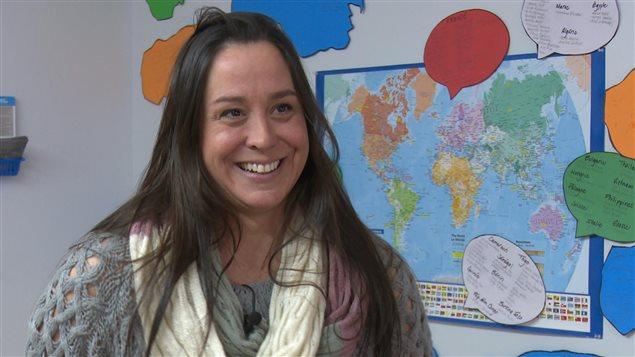 Amélie Filiatrault, coordonnatrice du service d'accueil des immigrants de la Côte-de-Gaspé