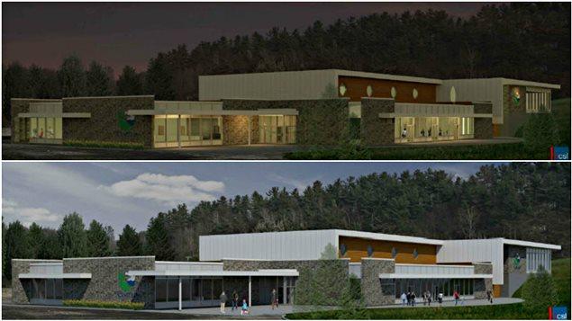 Les plans du futur centre communautaire multifonctionnel de Cantley.