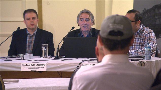 Le président-directeur général de Pétrolia a participé à la rencontre.
