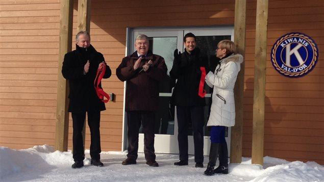 Inauguration du Pavillon Kiwanis-Lemieux, sentier glacé de Val-d'Or