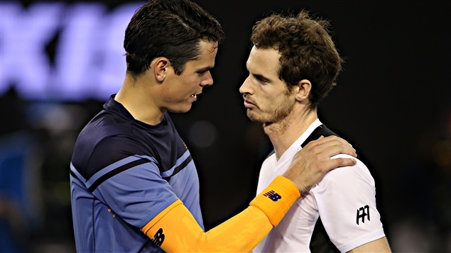 Milos Raonic et Andy Murray