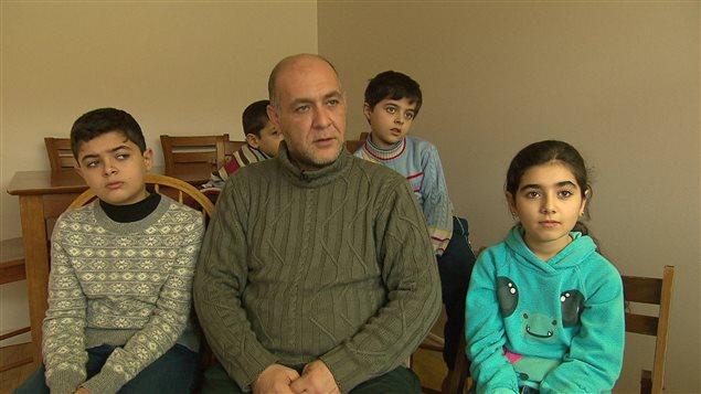 Famille de réfugiés syriens