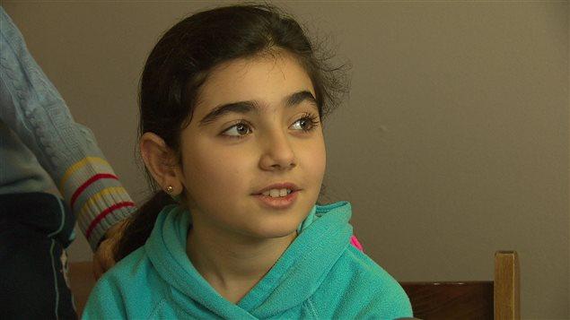 Fillette syrienne à Moncton