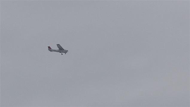 Une patrouille aérienne a participé aux recherches.