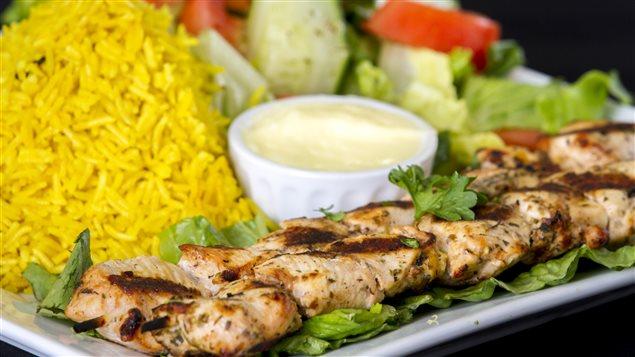 Un plat servi au restaurant Taste Of Egypt, à Saint-Jean N.-B.